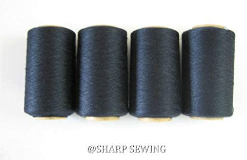 Night Blue #798 Spun Polyester SERGER & Quilting Thread 4 Tubes 1000 YDS. Each 12/80, 14/90 and 16/100