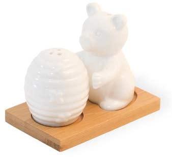 SALT & PEPPER SHAKERS - 3 PIECE SET (Bear & Hive)