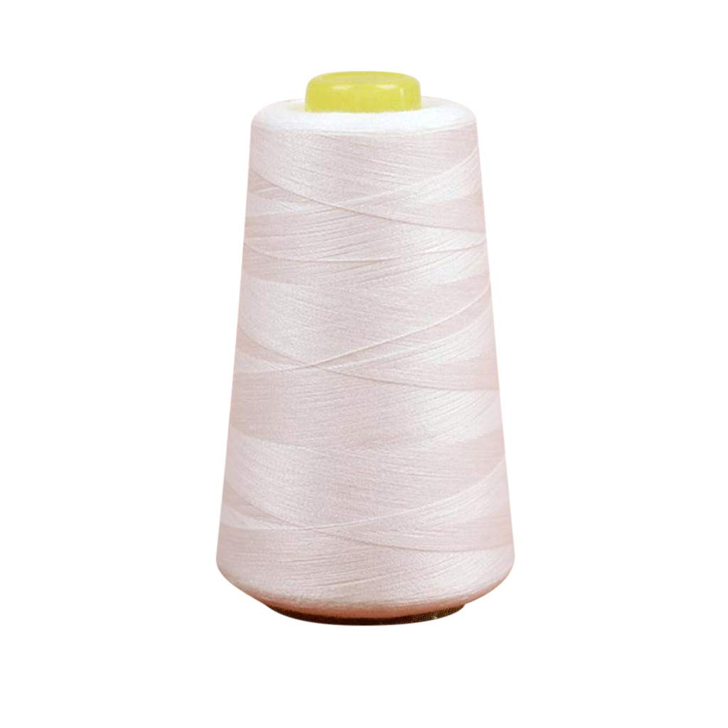 Sdoveb Household Polyester Sewing Thread Pagoda,Polyester Thread for All Purpose Hand and Machine Sewing, 3000/6000/8000 Yards,White/Black (S(3000-Yard), White)