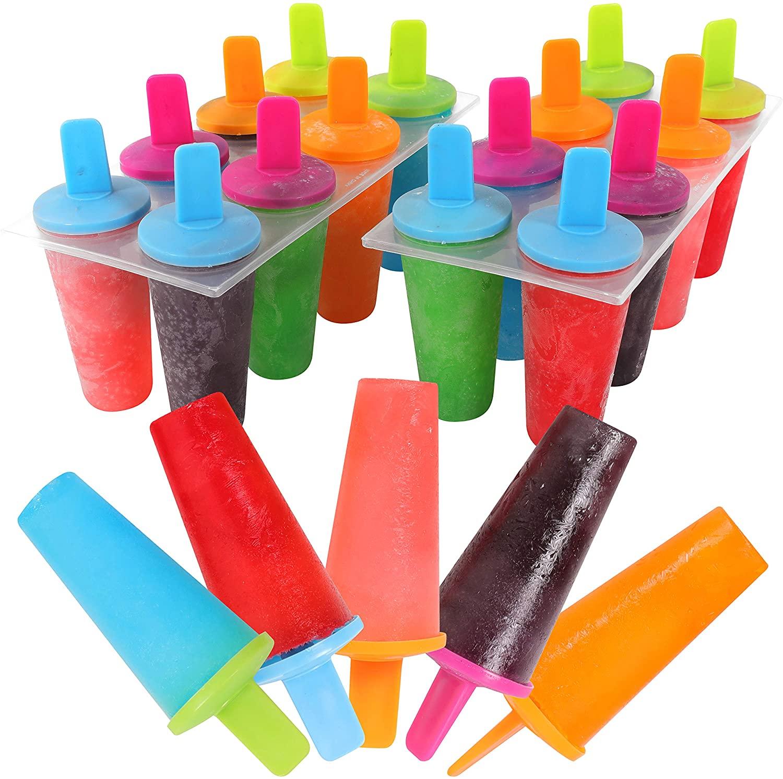 Mr Kitchen's Neon Popsicle Mold, Popsicle Maker, (Set of 2) Popsicle Molds;16 Popsicles