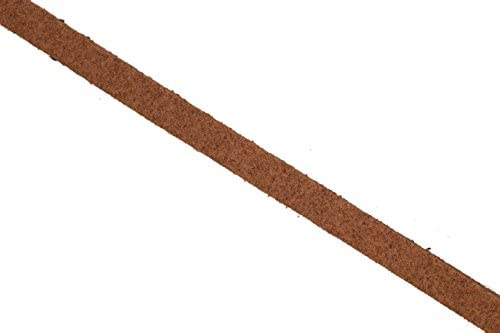 Faux suede lace cord brown 5mm, 25 yard pack