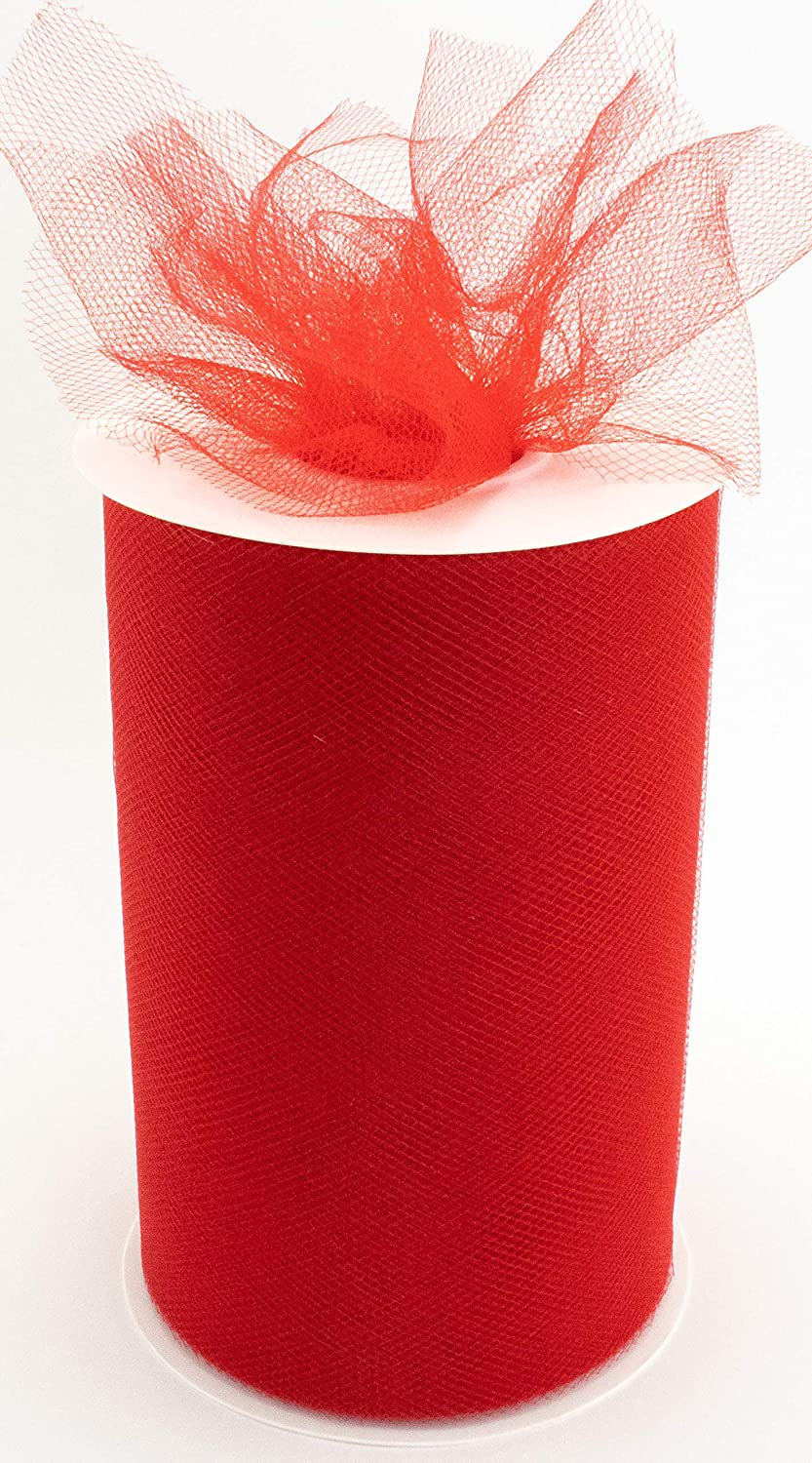 "Tulle Fabric Roll | 6"" by 100 Yards 