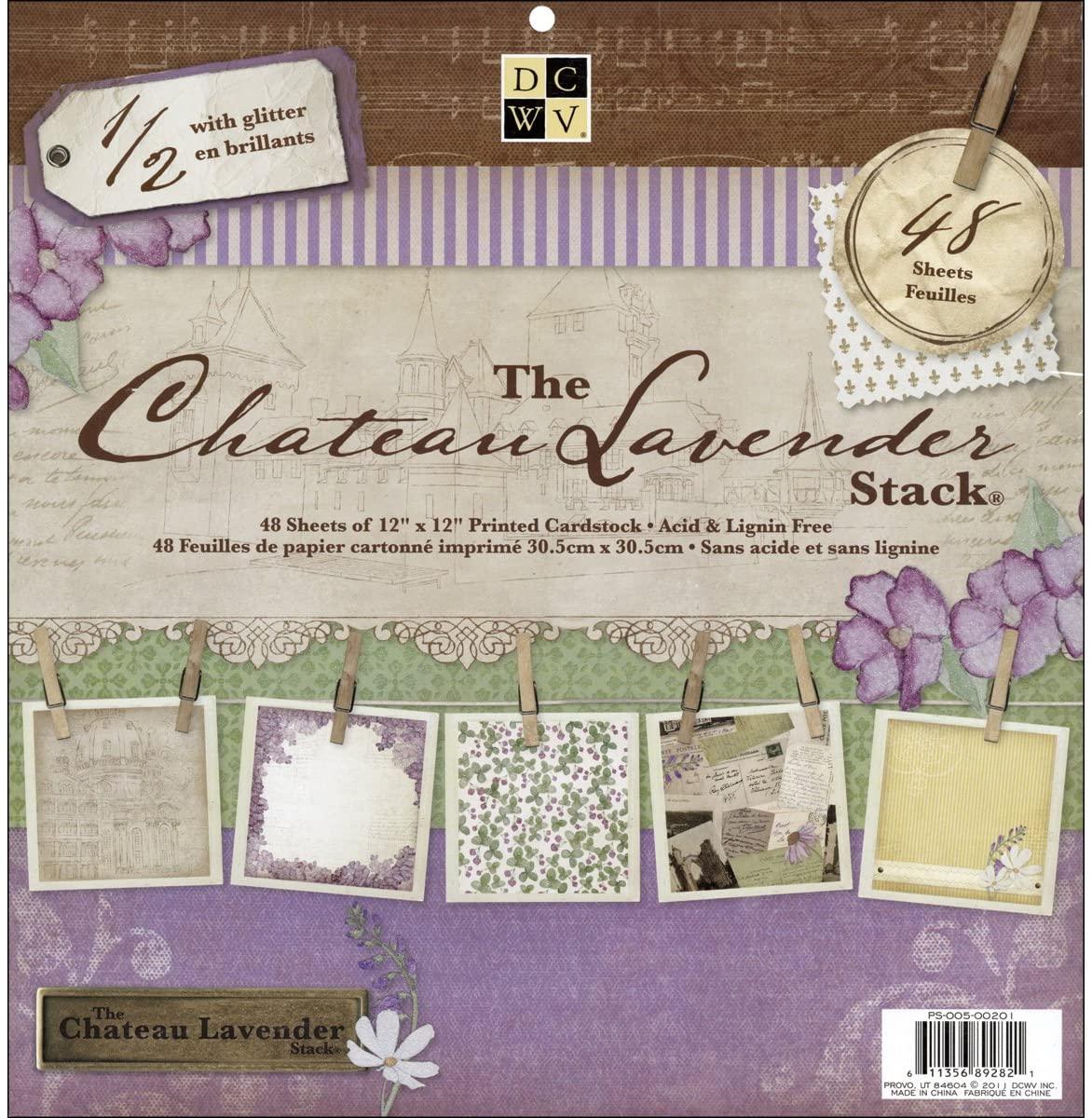 Paper Stack 12x12 48/Pkg-Chateau Lavender