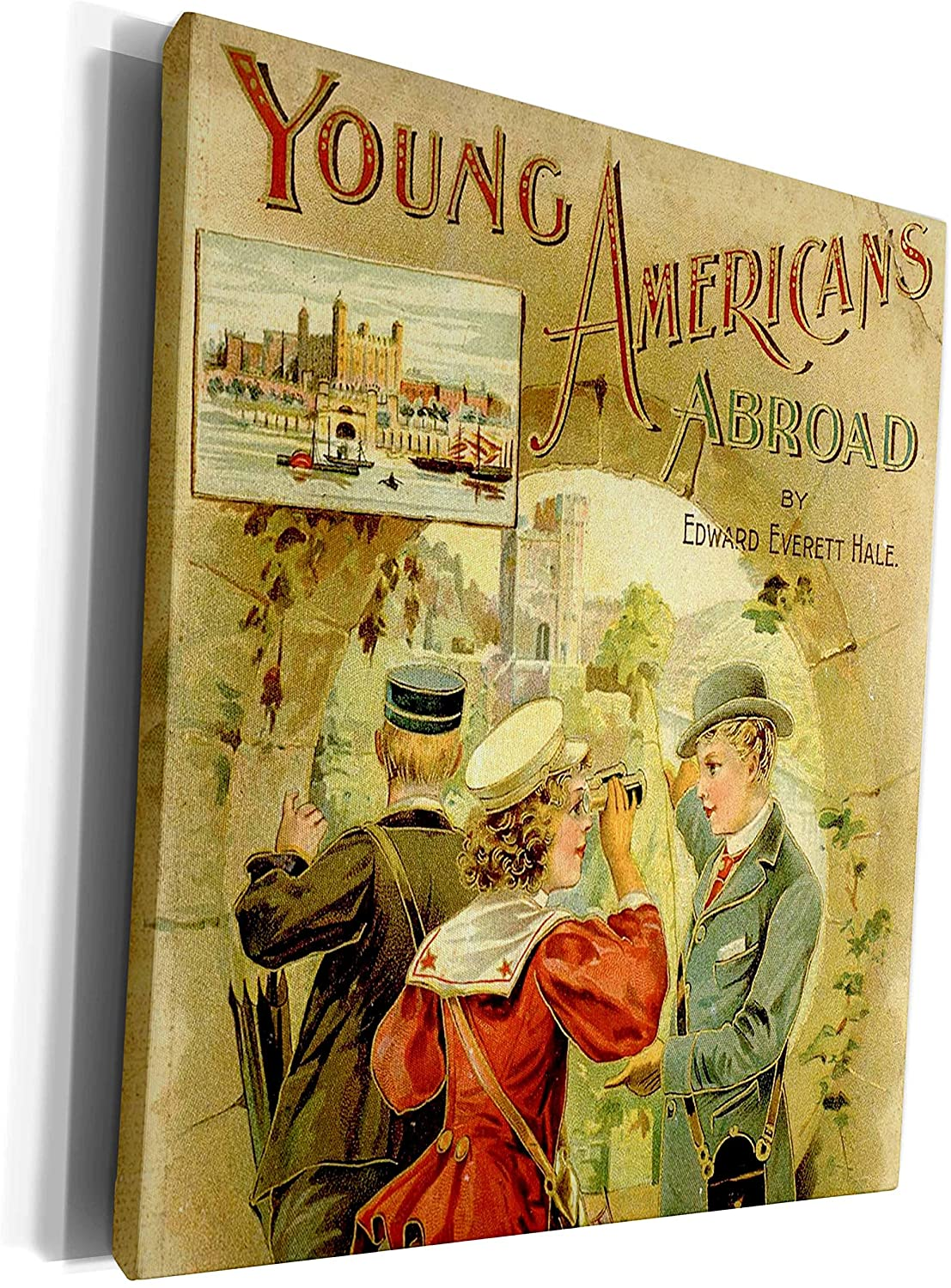 3dRose TNMPastPerfect Travel - Young Americans Abroad - Museum Grade Canvas Wrap (cw_238301_1)