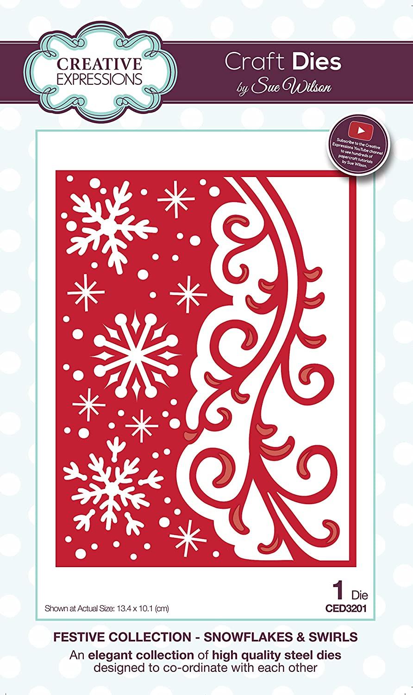Dies by Sue Wilson Festive Snowflakes & Swirls