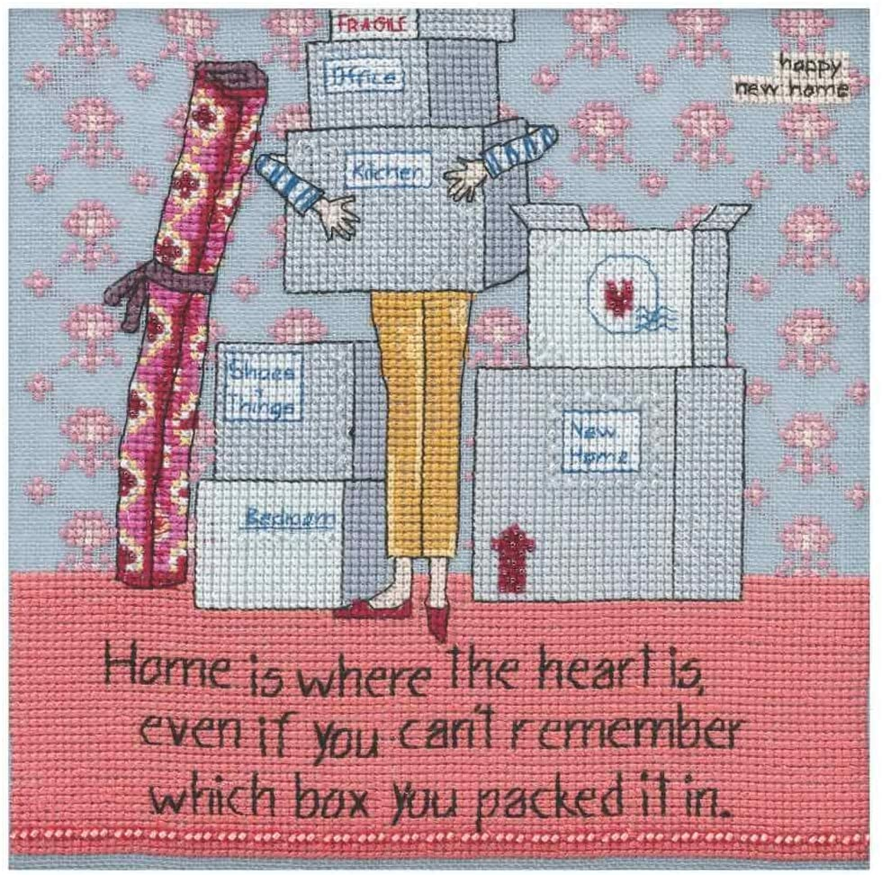 Where The Heart is Counted Beaded Cross Stitch Kit Curly Girl 2019 Mill Hill CG301811