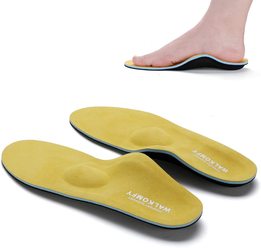 Walkomfy Full Length Orthotic Inserts Arch Support Insole, Insert for Flat Feet,Plantar Fasciitis,Feet Pain,Insoles for Men & Women(Mens11-11 1/2 |Womens 13-13 1/2)