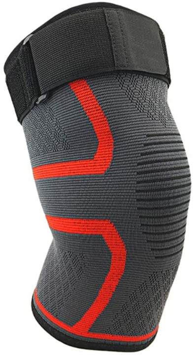 Knee Compression Sleeve, Adjustable Knee Brace with Strap for Men & Women, Knee Support & Pain Relief for Meniscus Tear, ACL, Arthritis, Basketball, Running, Tennis, Volleyball, Weightlifting, Gym