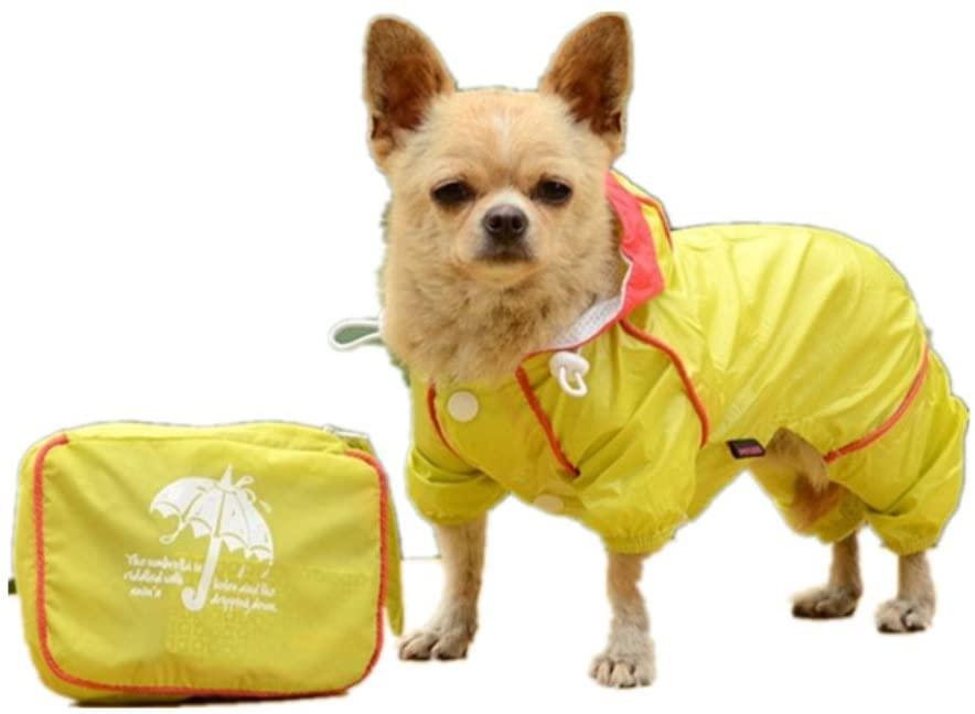 Bmart Pet Dog Hoodie Jacket Raincoat Puppy Rain Coat Waterproof Jacket Clothing