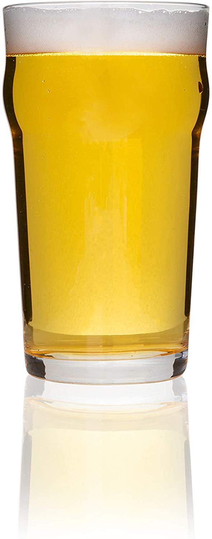 English Pub Beer Glass, 19 oz, 4 piece set
