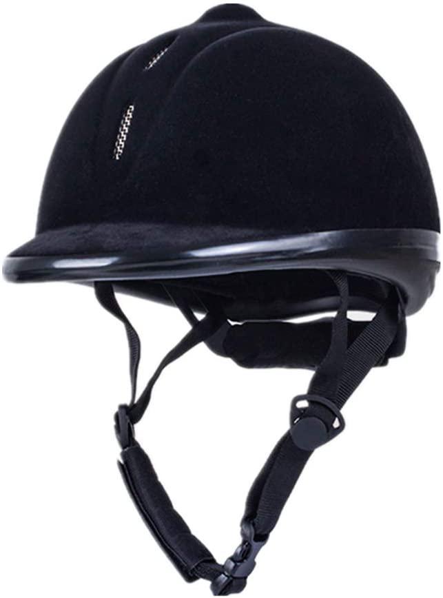 UNISTRENGH Equestrian Helmet Velvet Comfy Horse Riding Hats Breathable Performance Helmets
