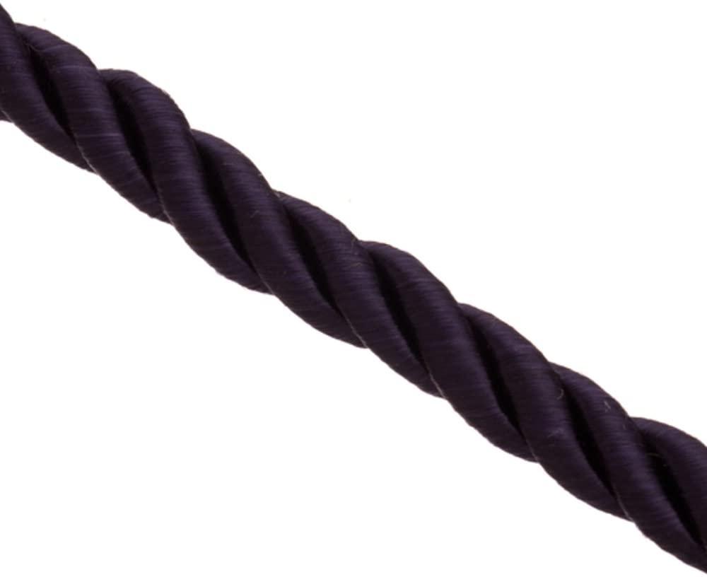 8mm Dark Purple Satin Finished Braided Nylon Cord 1meter/pack (3-Pack Value Bundle), SAVE $2