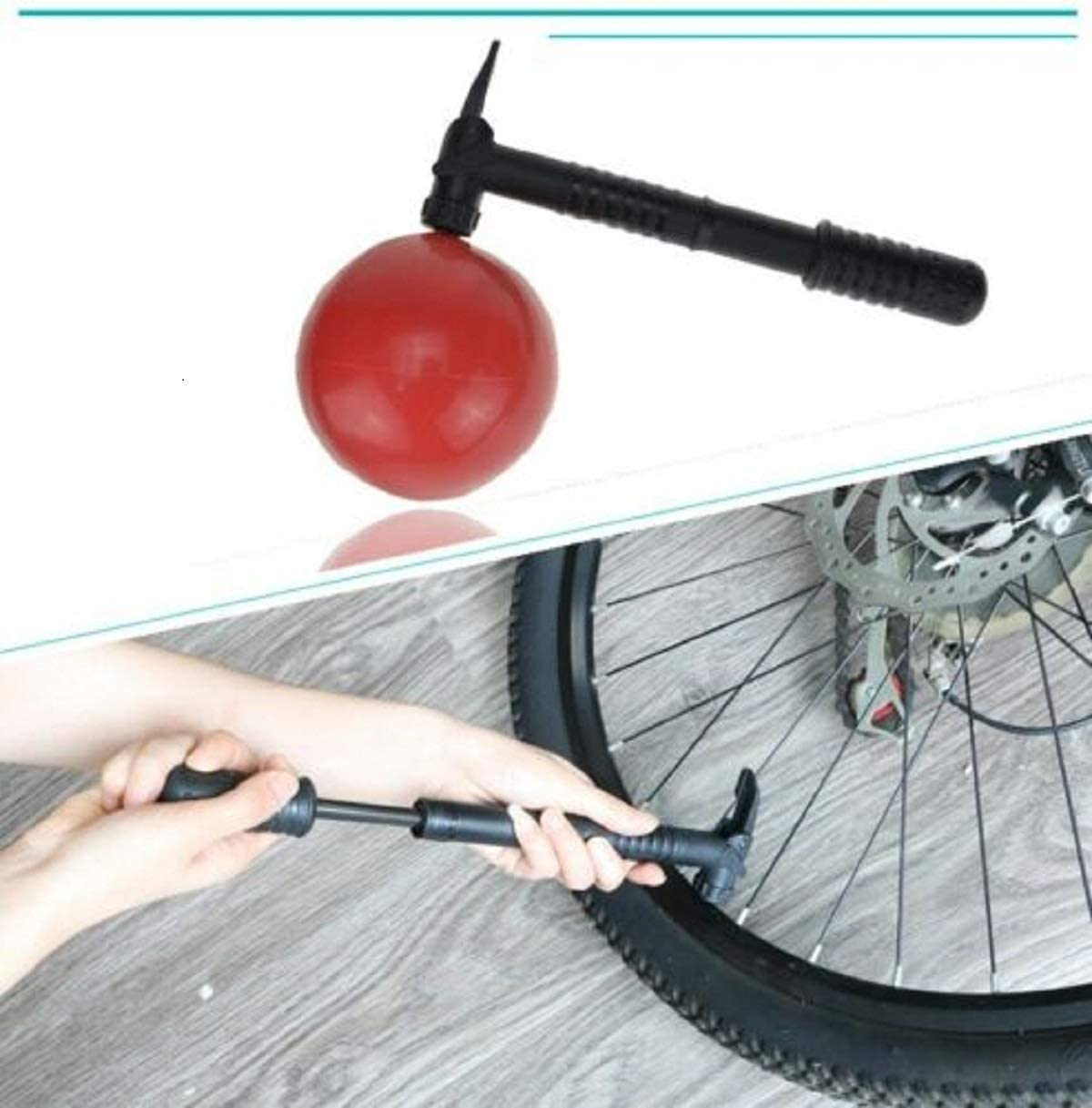 ibiky Bicycle Bike Cycling Tire Inflator Air Tyre Tire Pump