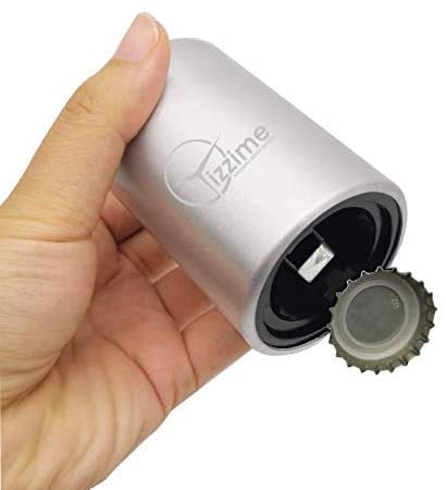 Easy Automatic Bottle Opener - Magnetic Push Down Cap Catcher – For Non-Twist, Glass, Beer, Soda, Sparkling Water Bottles