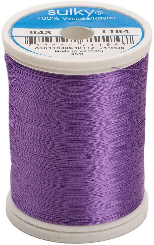 Sulky Of America 268d 40wt 2-Ply Rayon Thread, 850 yd, Light Purple