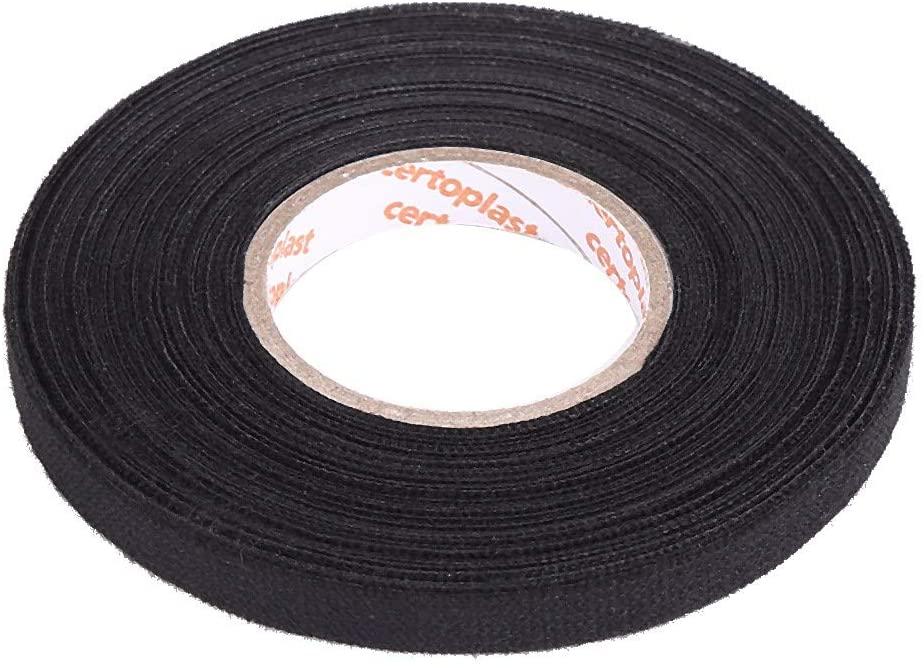 Automotive Wiring Harness Cloth Tape, MultiPurpose Car Self Adhesive Anti Squeak Rattle Felt Automotive Wiring Harness Tape for Auto Electrical Wrap, Protection, Insulation (9mm15m)