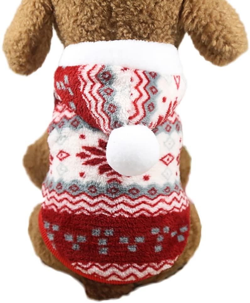 Pet Clothes Small Dog Cat Hoodie Pompon Soft Pet Coat Doggy Apparel Dog Jumpsuit
