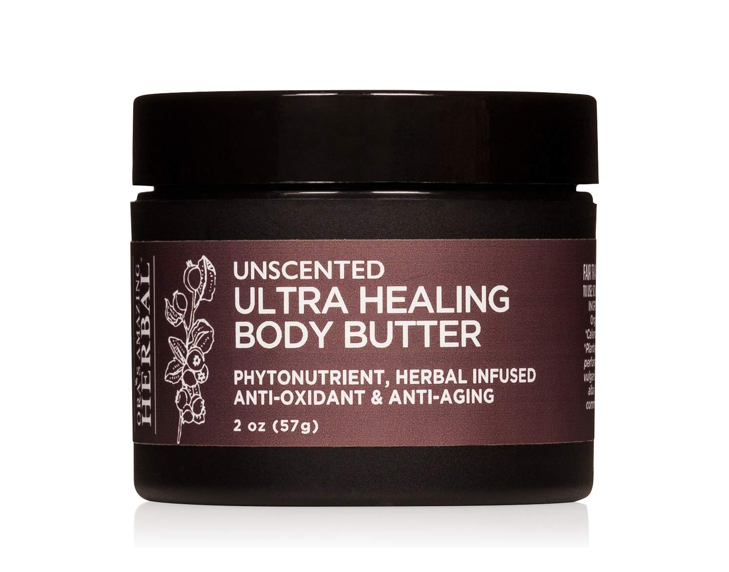 Fragrance Free Body Butter, Ultra Healing Body Butter with Organic Shea Butter, Unscented Body Butter, Hand Cream For Sensitive Skin, Hand Repair Cream, Travel Size, 2 oz
