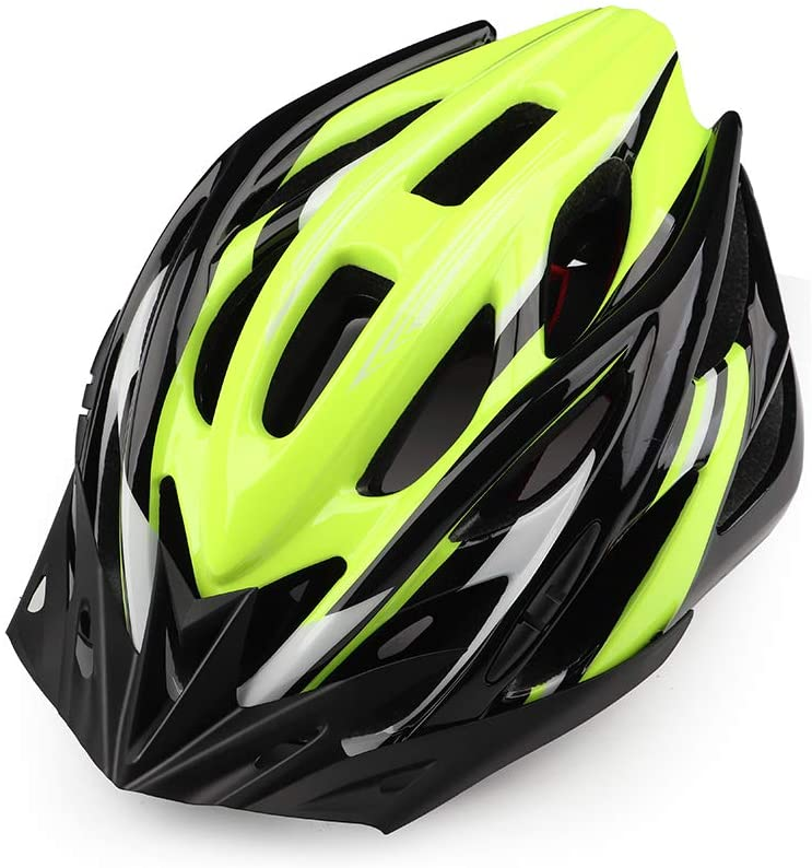 Adult Bike Helmet, Bicycle Cycling Helmet with LED Safety Light/Detachable Visor for Mountain & Road Biking Helmets for Adult Men Women Adjustable Size 22.44-24 Inches