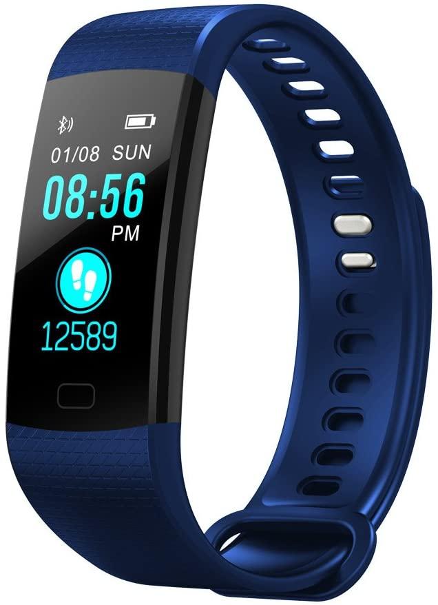 Smart Watch Sports Fitness Activity Heart Rate Tracker Blood Pressure Watch (210mm, Blue)