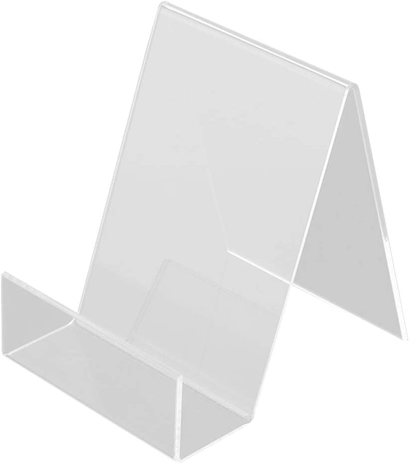 Yardwe 2pcs Clear Acrylic Easel Display Stand Dazzling Displays Book Easel Clear Tablet Holder Acrylic Stand for Home Office Business School