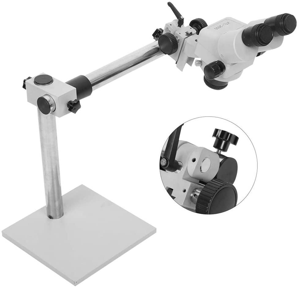 Micro Mounting Binocular Microscope Machine,Jadpes 7X-45X Continuous Zoom Binocular Stereo Microscope for Jewelry Setting Mirror Processing