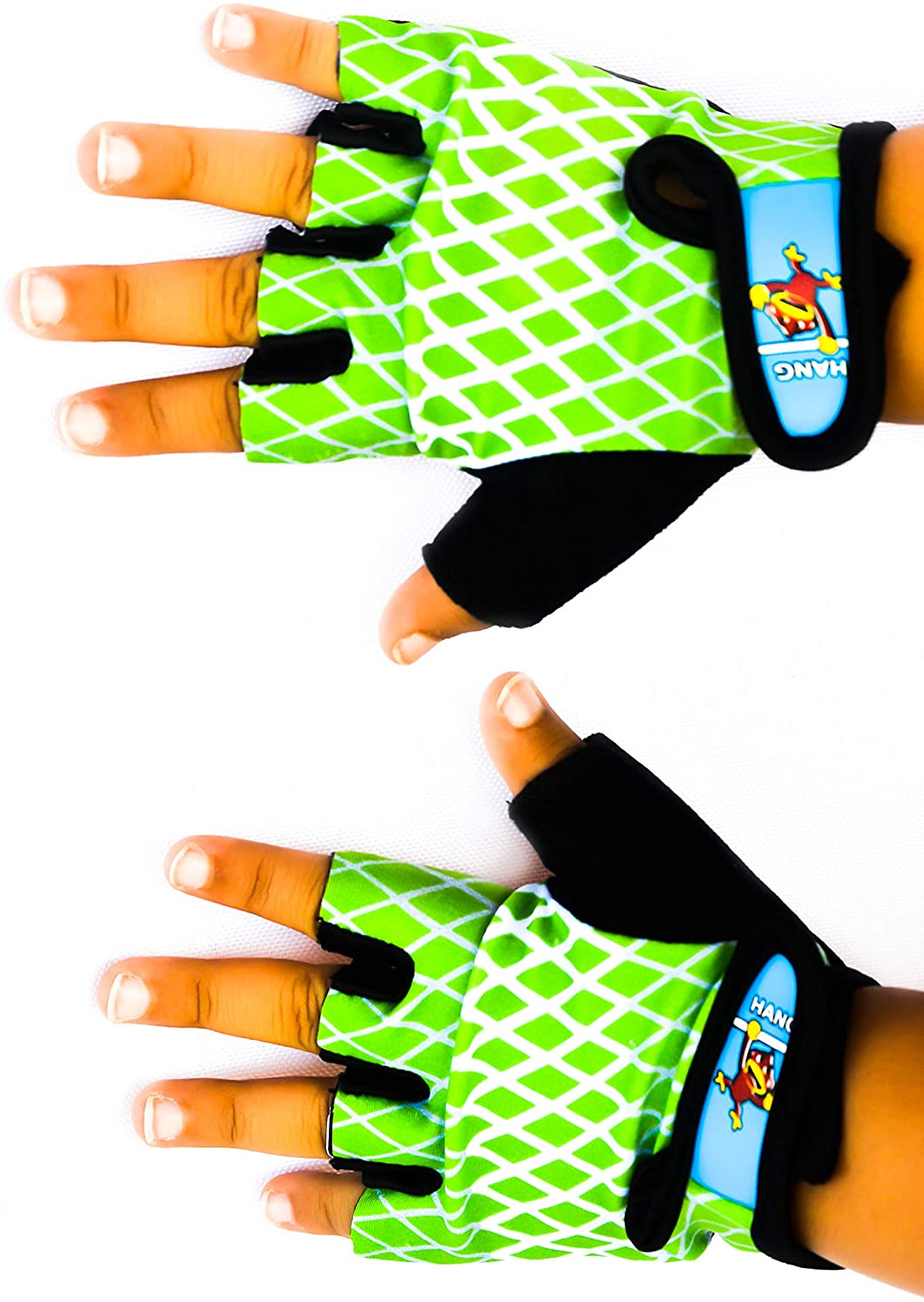 HANG Monkey Bars Gloves (5 and 6 Years Old Kids) with Grip Control