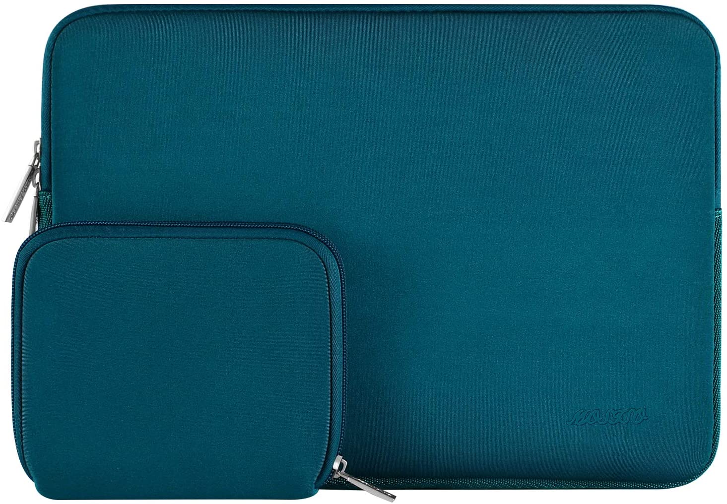 MOSISO Laptop Sleeve Compatible with 2019 MacBook Pro 16 inch Touch Bar A2141, 15-15.6 inch MacBook Pro Retina 2012-2015, Notebook, Water Repellent Neoprene Bag with Small Case, Deep Teal