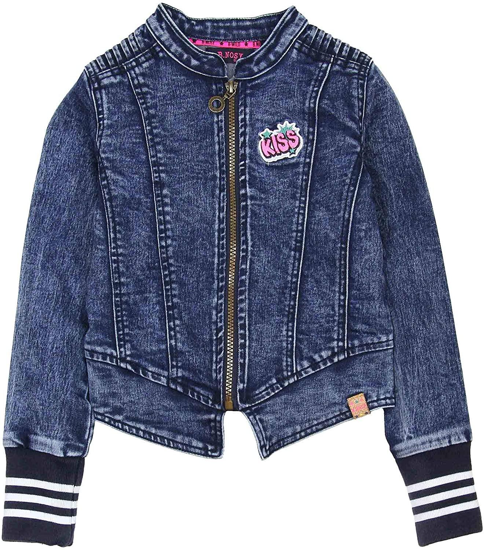 B.Nosy Girl's Sporty Denim Jacket in Dark Blue, Sizes 6-14