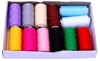 JPONLINE 12pcs Colorful 400 Yards Machine Embroidery Thread Sewing Threads Home Thread Craft Patch Steering-wheel Supplies Sewing Tool NEW PRODUCT