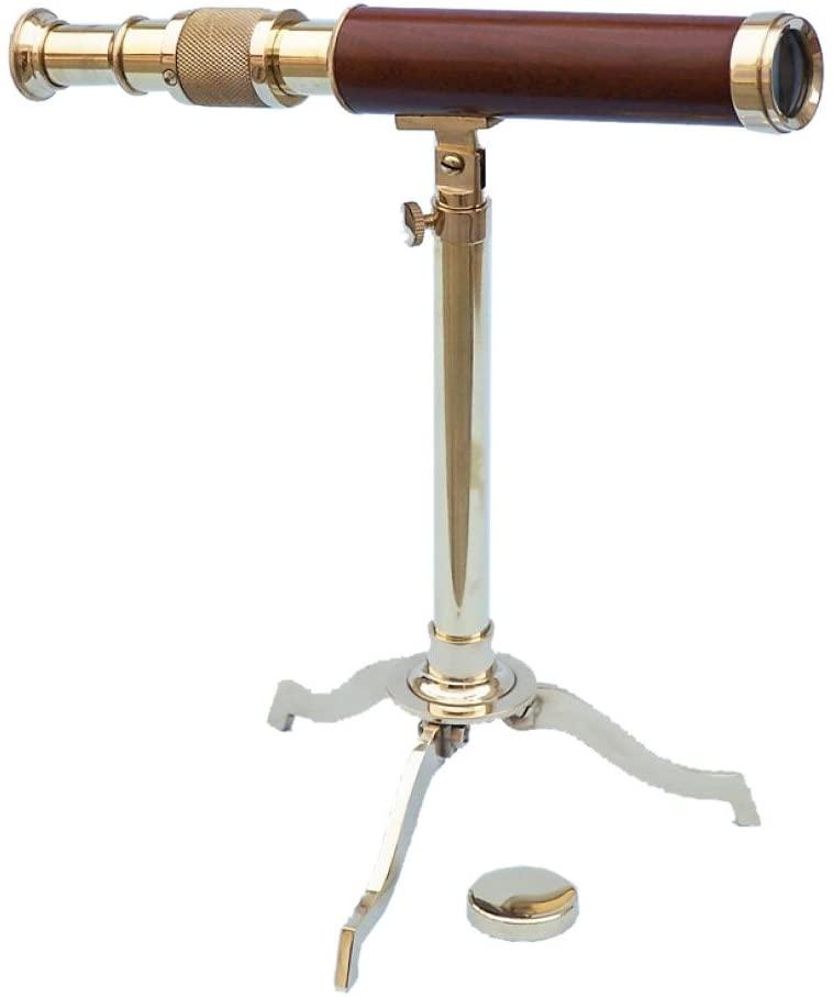 Brass/Wood Telescope on Stand 17