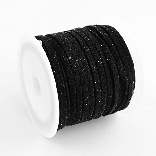 PEPPERLONELY Brand 5M/Roll 3mm Black Faux Suede Cord