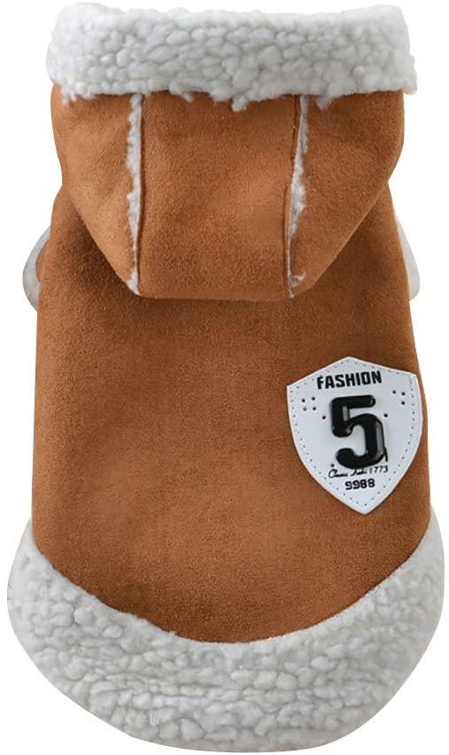 Patgoal Dog Winter Coat Pet Hooded Clothes Snowsuit Apparel Locomotive Vest