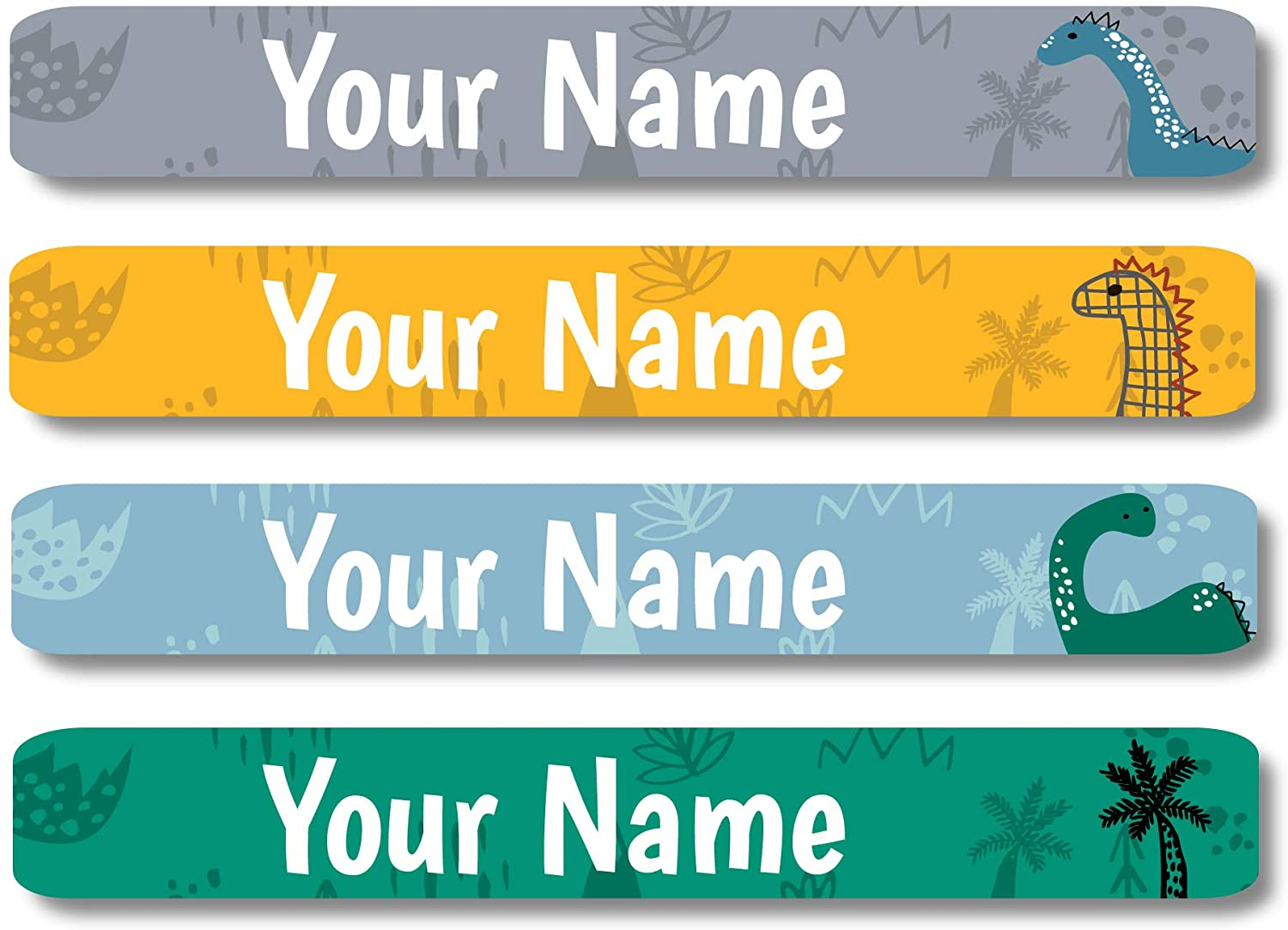 Lovable Labels Personalized Labels for Kids (120 Labels) - Waterproof Dishwasher Safe Peel and Stick Labels are Great for School Supplies Daycare Camp Clothing Bottles (Little Foot)