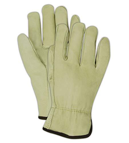 Magid B6540E Roadmaster Cow Grain Leather Driver Glove with Straight Thumb, Work, XL, Tan (12 Pairs)