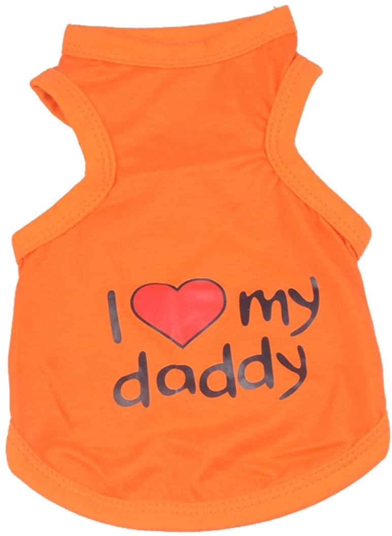 Rdc Pet I Love My Mommy Dog Shirt, Dog T Shirt, Large Dog Clothes Summer Dog Vest from 3X-Large to 9X-Large for Midlle Dog, Big Dog,Large Dog