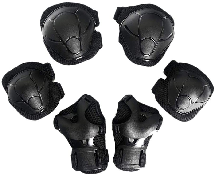 TOTAMALA Kids Protective Gear Set Knee Pads for Kids 3-9 Years Toddler Knee and Elbow Pads with Wrist Guards 3 in 1 for Skateboard Skating Cycling Bike Rollerblading Scooter