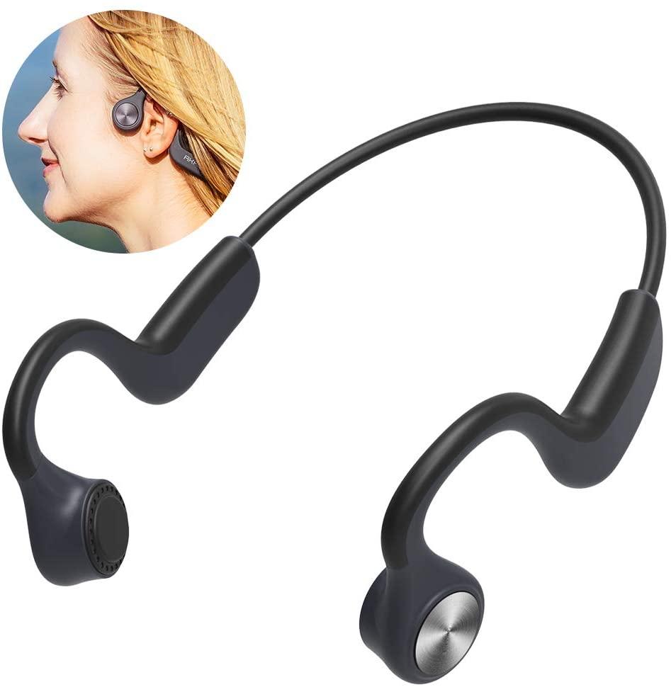 Upgrade AKASO Bone Conduction Headphones Open Ear Wireless Headphones with Bluetooth 5.0 Sports Headsets for Jogging Running Sports Fitness Sweatproof G101