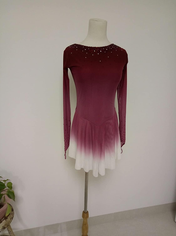 Fashion Custom Ice Skating Dress Girls Custom Figure Skating Competition Dresses Crystals A2100