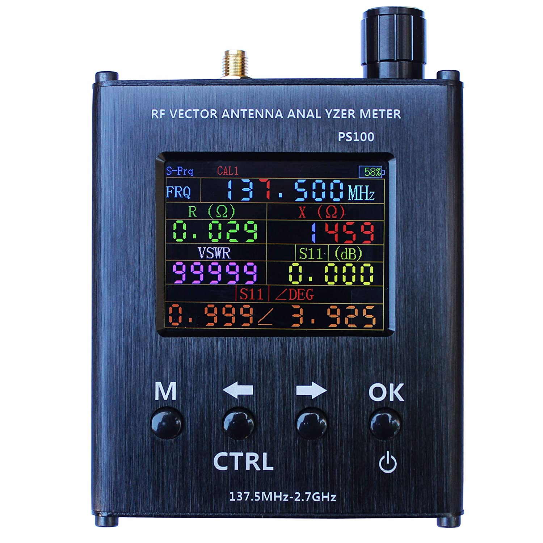 PS100 UV RF Vector Impedance ANT SWR Antenna Analyzer Meter Tester 137.5MHz-2.7GHz N1201SA