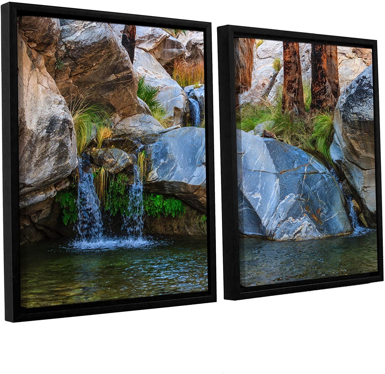 ArtWall Scott Campbell's Murray Canon Tranquility II_ 2 Piece Floater Framed Canvas Set, 24