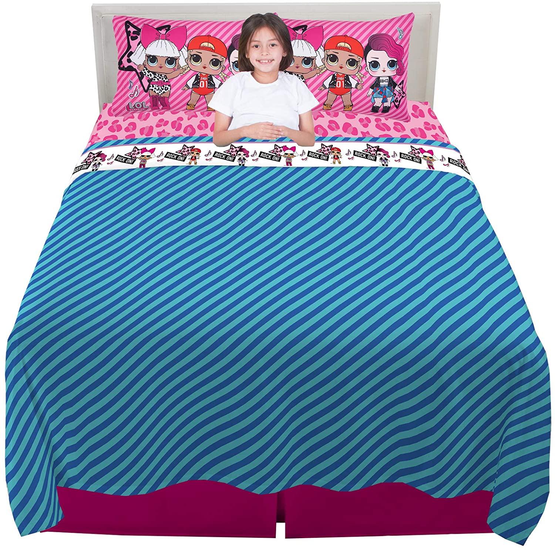 Franco Kids Bedding Super Soft Microfiber Sheet Set, 4 Piece Full Size, L.O.L. Surprise