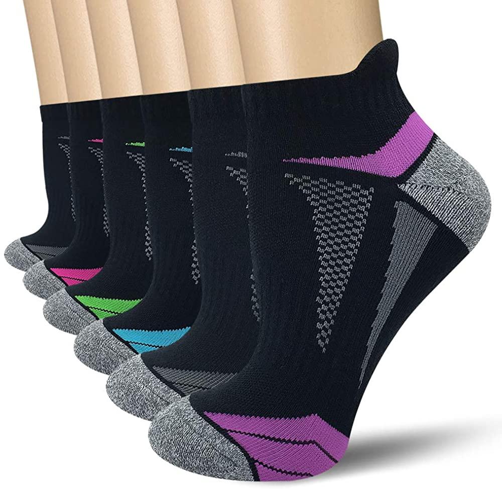 AKOENY Women's Performance Athletic Running Socks (6 Pair)