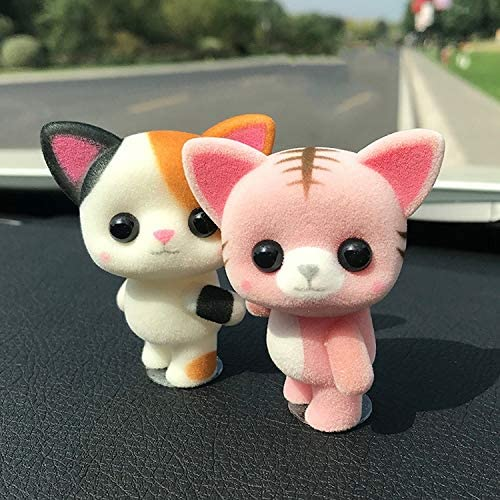 FLFLFF Car Dashboard Decoration, Cute Cartoon Animal Car Accessories and 3M Seamless Glue, (Random Delivery)