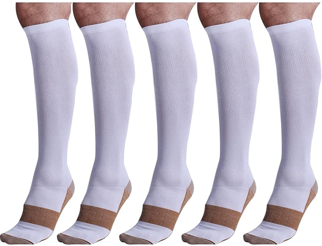 Bcurb Graduated Compression Socks (2 Pair) Women Men for Medical Sports Travel