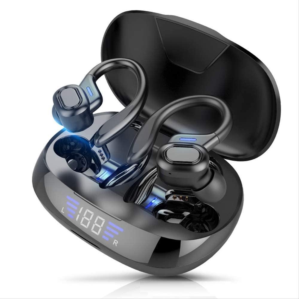 TWS Bluetooth Earphones with Microphones Sport Ear Hook LED Display Wireless Headphones HiFi Stereo Earbuds Waterproof Headsets