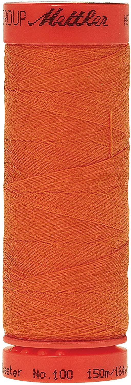 Mettler Metrosene 100% Core Spun Polyester Thread, 165 yd, Tangerine