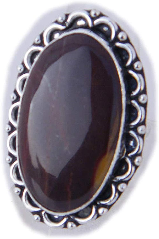 Thebestjewellery Mookaite Jasper Ring, Silver Plated Ring, Handmade Ring, Women Jewelry, Gemstone Ring (Size- 9.25 USA) BRS-3233