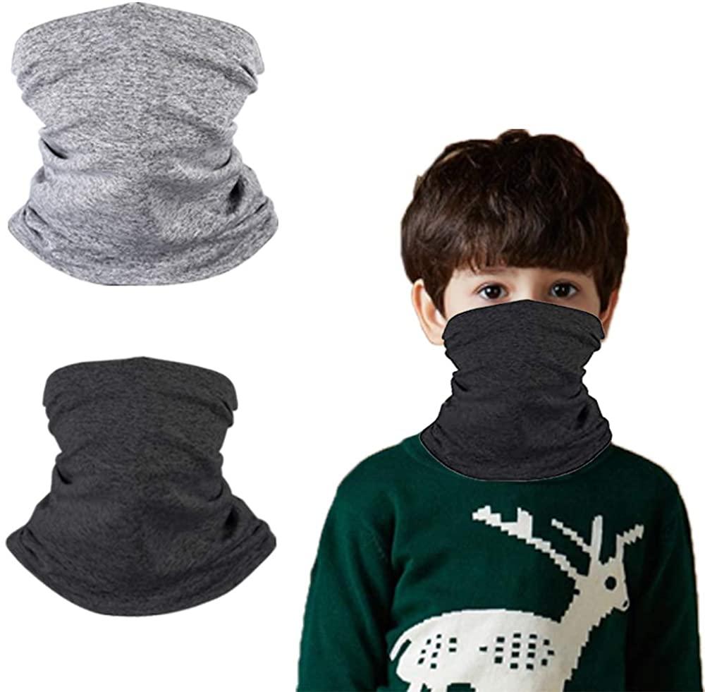 2PCS Neck Gaiter Bandanas Masks Magical Multi Protection Headwear for Kids