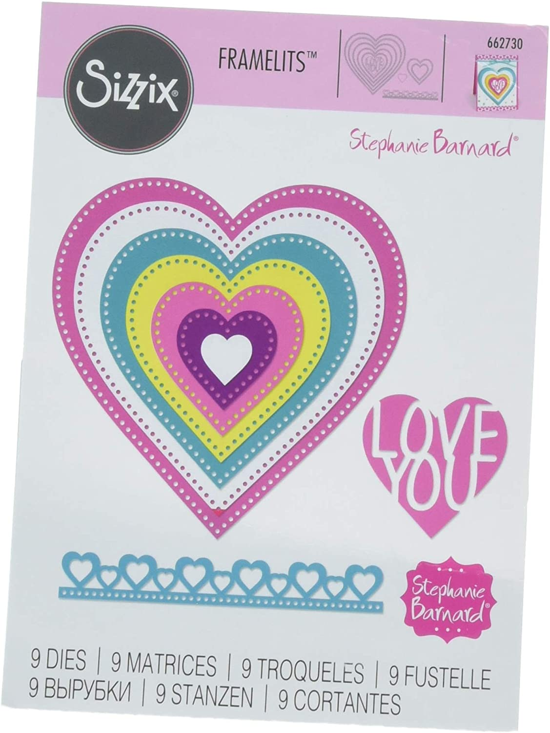 Sizzix (SIZC7) Frameless Die Set, Multi-Colored